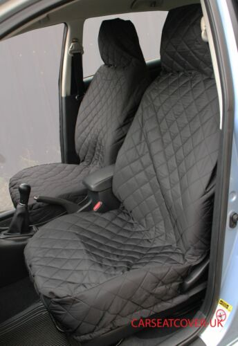 Daihatsu Hi-Jet FRONT PAIR of Luxury QUILTED Protectors Car Seat Covers