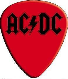 New Perri/'s Leathers LP-ACDC2-6x ACDC Rock Band Picks for Guitar//Bass