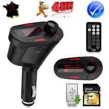 TRANSMETTEUR EMETTEUR RADIO FM MP3 SANS FIL POUR VOITURE AUTO SD MMC CLE USB LCD