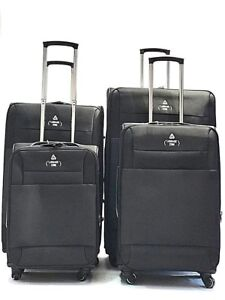 4-Wheel-luggage-Suitcase-Lightweight-Soft-Case-Expandable-Trolley-S-M-L-XL-SIZES