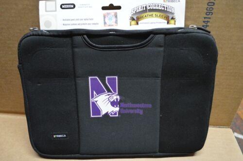 "New Tribeca Northwestern Neoprene Black Laptop Sleeve for 15/"" Macbook Pro"