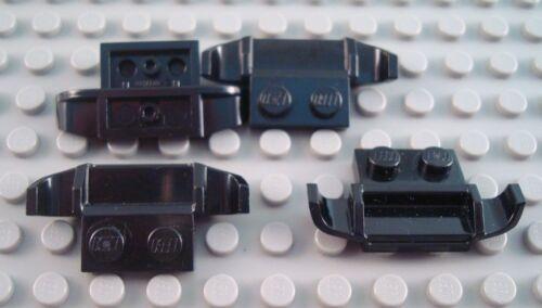 LEGO Lot of 4 Black Car Vehicle Spoiler Plates