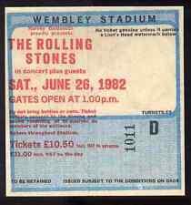ROLLING STONES REPRO 1982 WEMBLEY STADIUM 26 JUNE CONCERT TICKET . NOT CD DVD
