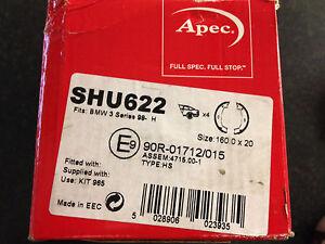 Apec-Brake-Shoes-SHU622-90R-01712-015-BMW-3-98-Size-160X20-1-DRUM-ONLY