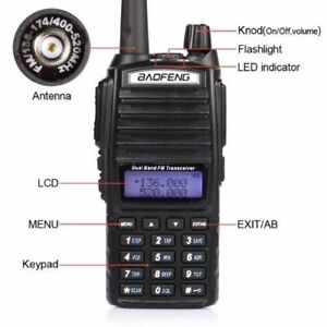 10Pcs BAOFENG UV-5R VHF//UHF 136-174/&400-520Mhz Ham Two-way Radio Walkie Talkie K