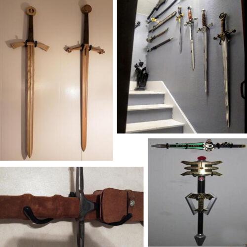 Sword Display Stand Sword Wall Mount Vertical Sword Foils Wall Hanger