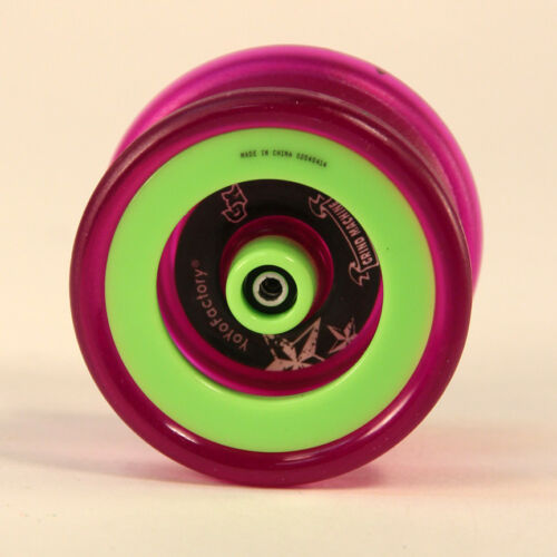 Lime Green and Purple YoYoFactory Grind Machine Yo-Yo