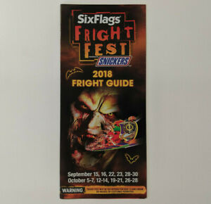 Details about Six Flags Magic Mountain Fright Fest 2018 Park Map & on land of make believe map, islands of adventure map, six flags new jersey map, carowinds map, kings island map, great america map, knotts berry farm map, mt. olympus water & theme park map, cedar point map, new orleans six flags park map, busch gardens map, ghost town in the sky map, michigan's adventure map, blackpool pleasure beach map, raging waters map, magic kingdom map, 2014 six flags nj map, 2014 six flags chicago map, thorpe park map, disneyland map,