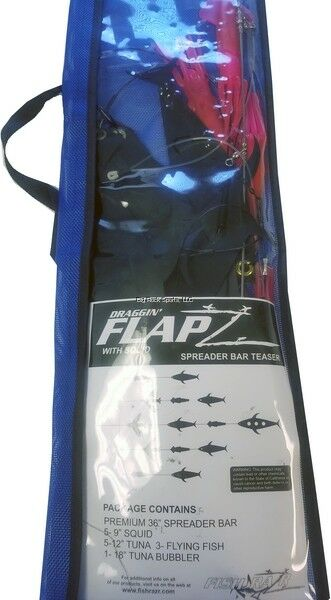 NEW Fish Razr Spreader bar  kit. 36  bar with Flapz and 9  pink squid FR911  factory outlets