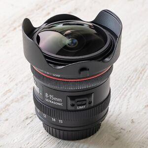 Objectif photo Canon 8-15mm f/4 L USM Fisheye