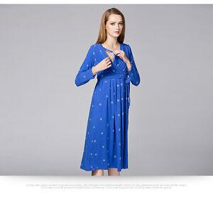 7496000e456 Image is loading Waist-Belt-Dress-Nursing-Breastfeeding-Prenancy-Maternity -Slim-