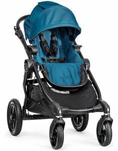 Baby-Jogger-City-Select-All-Terrain-Single-Stroller-Black-Frame-Teal
