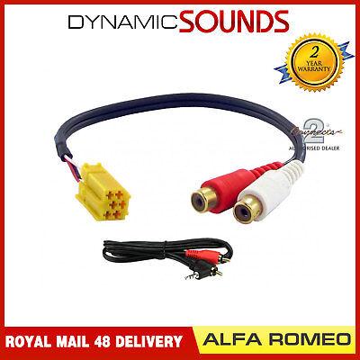 100% QualitäT Ct29ar01 Radio Ipod Mp3 Rca Kabel Aux Eingang Adapter Für Alfa Romeo 159 07-11 QualitäT Zuerst