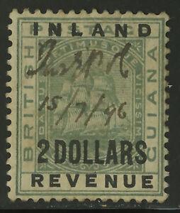 British-Guiana-1889-Scott-125-Mint-Hinged-Fiscal-Cancel