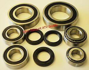 Wheel Bearings /& Seals C Bayou 4X4 Rear Axle 1998 1999 2000 Kawasaki KLF 300