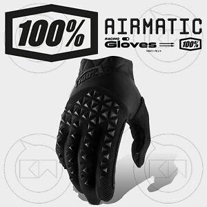 GUANTI-100-AIRMATIC-MX-BLACK-CHARCOAL-YOUTH-MOTOCROSS-ENDURO-OFF-ROAD-ATV-MTB