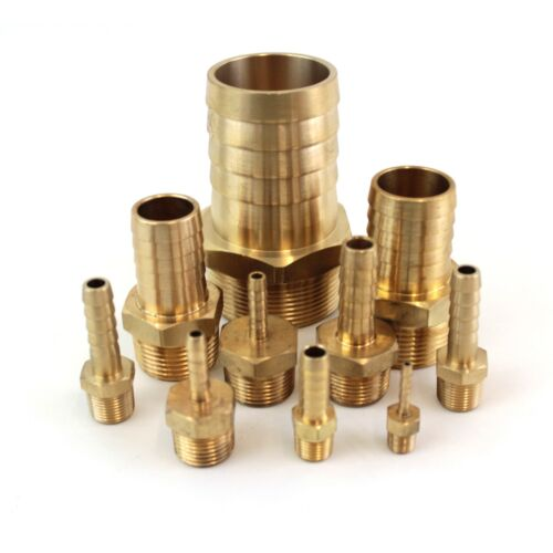 Brass Fitting for Air BSP Taper Thread x Hose Tail End Connector Water /& Fuel