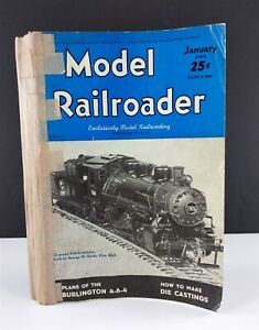 Model-Railroader-Magazines-1944-Lot-12-Issues-Complete-Year-Kalmbach-Publishing