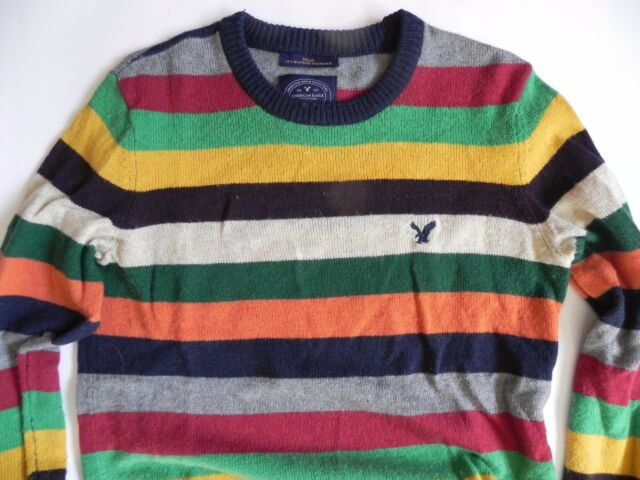American Eagle~Athletic Fit Multi-Color Striped pull over Sweater size XSmall
