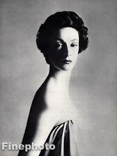 1953 Vintage 16x20 MARELLA AGNELLI Italy Fashion Model Art Fiat RICHARD AVEDON