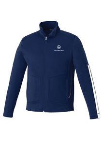 mercedes benz men 39 s navy blue knit jacket 100 polyester. Black Bedroom Furniture Sets. Home Design Ideas