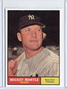 Mickey-Mantle-1961-Topps-BASEBALL-card-300-New-York-Yankees-REPRINT