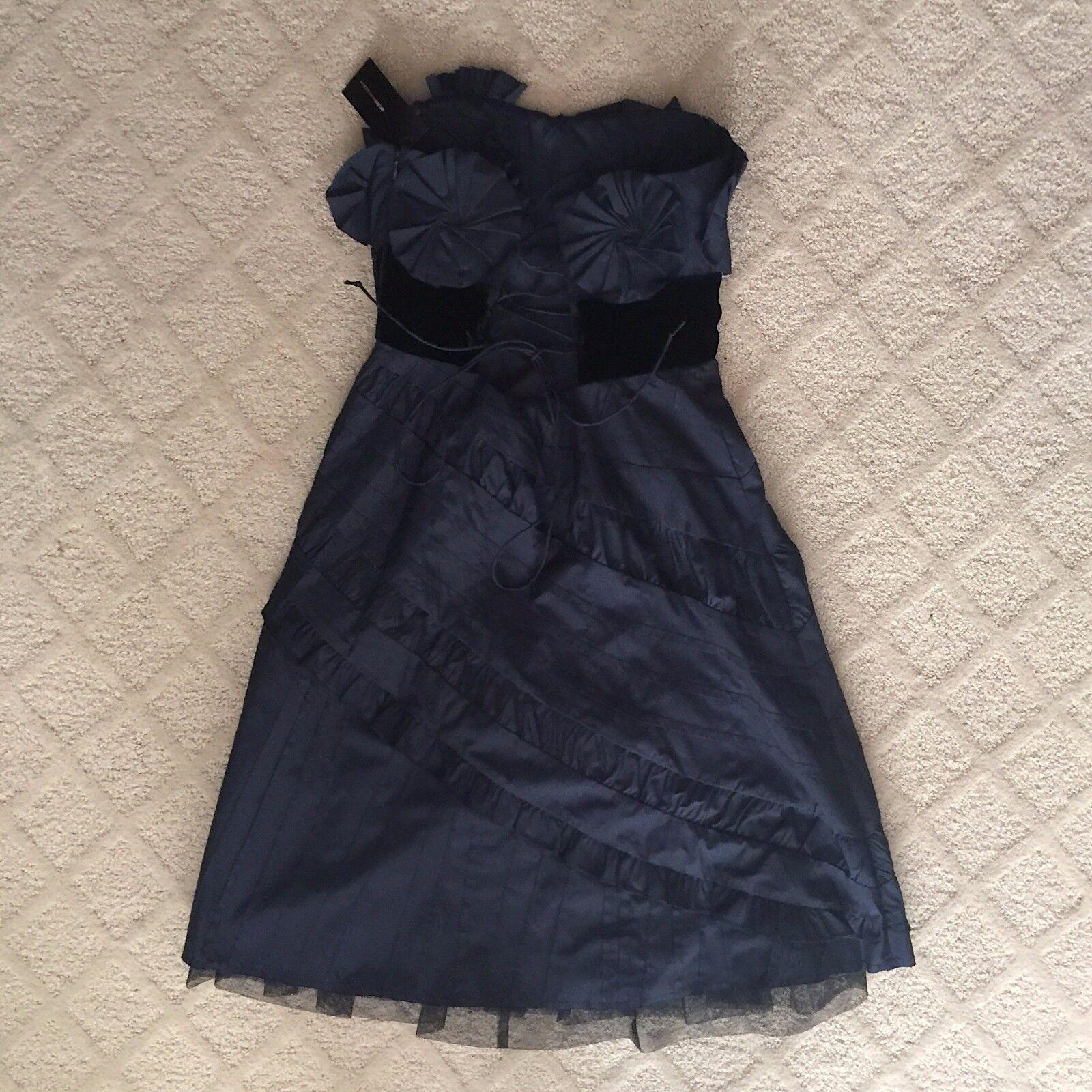 62d54c46fac75 ... NWT BCBG BCBG BCBG bluee Strapless Dress with Taffeta c1ffd1 ...