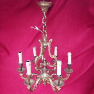 Lustre-en-bronze-6-lumieres-Hauteur-67-cm-milieu-XX-siecle