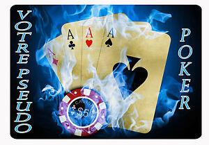Tapis De Souris Poker Personnalise Avec Prenom Ebay