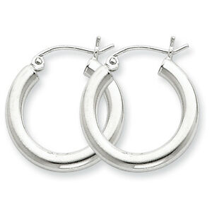 925-Sterling-Silver-Rhodium-Plated-3mm-x-20mm-Round-Polished-Hoop-Earrings