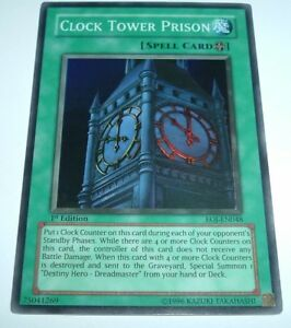 Yugioh Clock Tower Prison Eoj En048 Nm Mint Super Rare 1st Edition Ebay