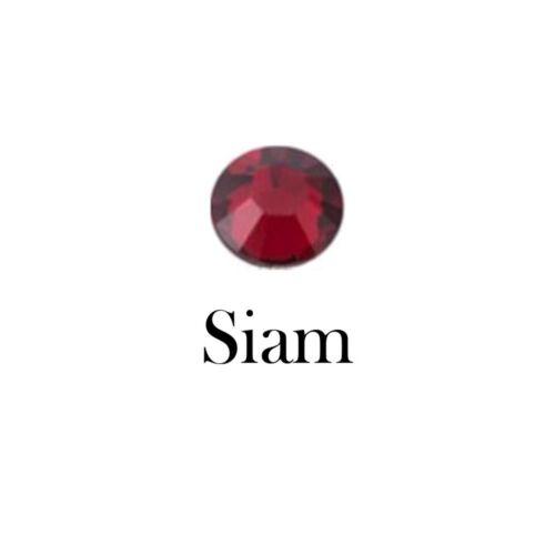 100 NonHotfix Flatback Glass Crystal Diamanté Rhinestones Siam Red