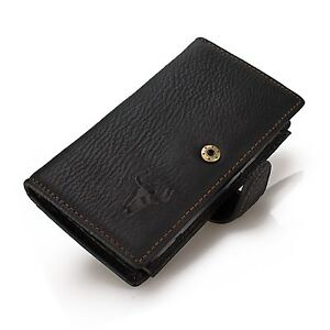 Men-Real-Leather-Slim-Long-Wallet-Organizer-Trifold-Expandable-Travel-ID-Cover
