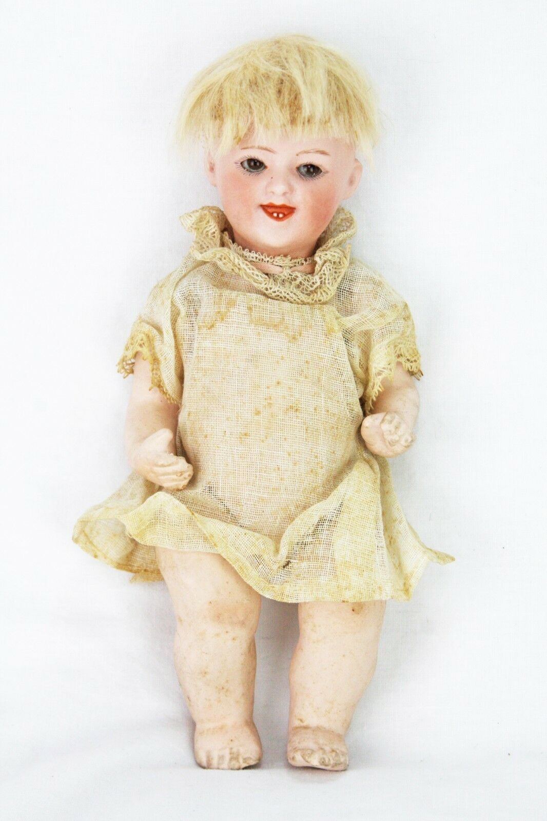 Antique German Bisque Heubach Laughing Doll ca1910