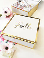 5 Personalized Gold Foil Will You Be My Bridesmaid Bridal Party Gift Box W/card