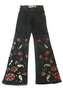 Parasuco-Womens-Jeans-Size-26-Embellished-Sequins-Beads-Embroidery-Stretch