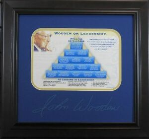 John-Wooden-Leadership-Plate-Signature-Lot-1868279