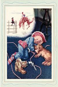 Little-Buckaroo-Cowboy-Rodeo-Vintage-Image-Poster