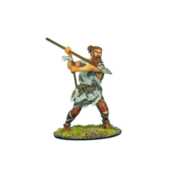 First Legion  ROM031 German Warrior with Axe and Spear