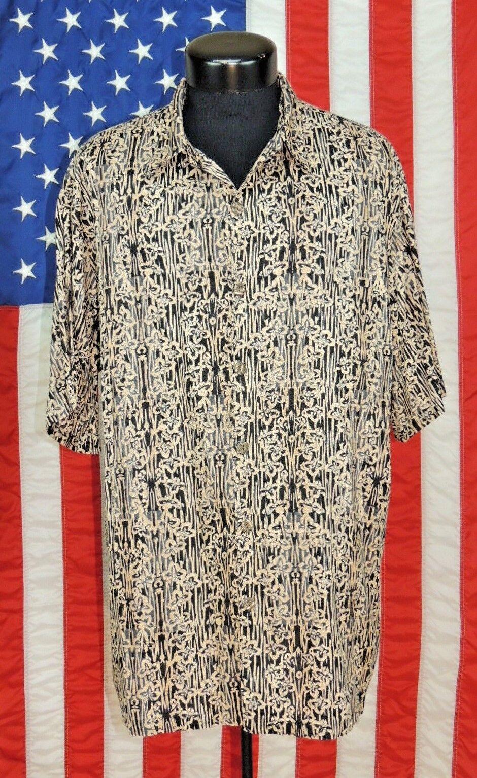 16e3af85 Rare VTG Hilo Hattie Made Hawaii Hawaiian 2XL Aloha Tiki Luau Shirt True  Floral