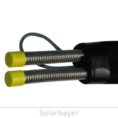 Solar Pipe//Insulated Solar Stainless Steel Doppelwellrohr Dn 20-10 15 M