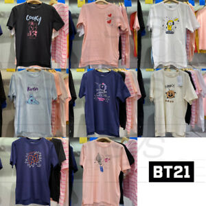 BTS-BT21-Official-Authentic-Goods-Graphic-Short-Sleeve-T-Shirt-by-Line-Friends
