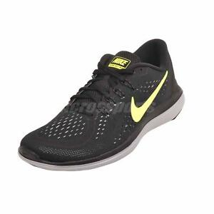Men s Nike Flex 2017 RN Running Shoes Black   Volt   Grey Sz 12 ... c7fcf9caf