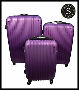 Quality Lightweight Purple Hard Shell Cabin Large ABS Luggage ...