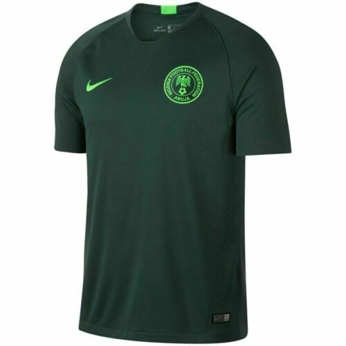 Nike 2018 Nigeria Stadium Suite Maillot de Football Verte 893885 397 Size M Nwt
