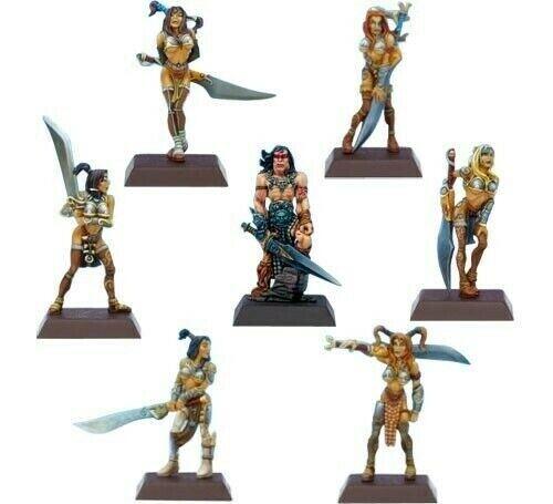 Rackham Confrontation Legacy Miniatures - Drako and the Fiannas