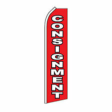 Consignment Flag Flutter Feather Banner Swooper