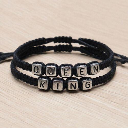 Couple bracelets à la main roi et la Reine de son son charme bracelet ZH