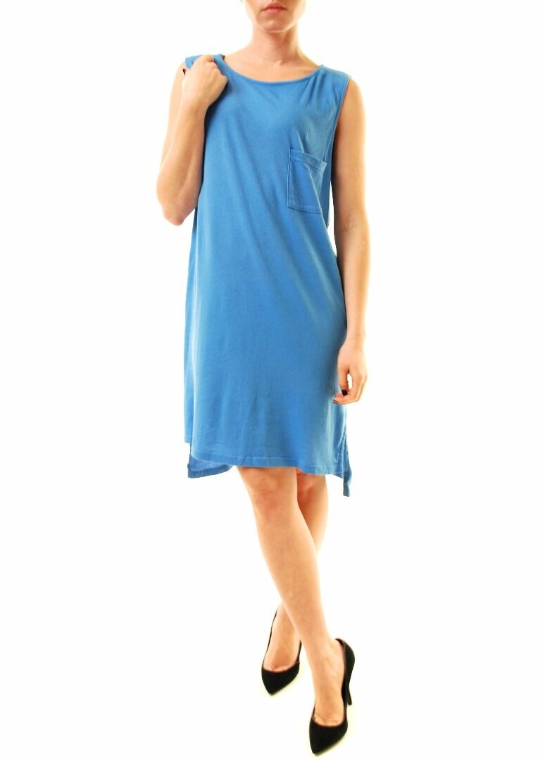 Sundry Women's Authentic Sleeveless Tunic Dress bluee Size US 1 RRP  BCF612