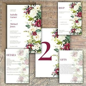 Personalised-Luxury-Rustic-Wedding-Invitations-IVORY-amp-BERRY-MULBERRY-ROSE-PK-10